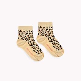 豹紋小短襪