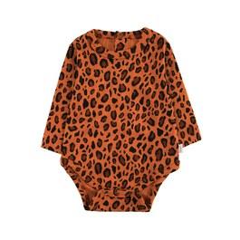 Baby 豹紋羅紋連身衣