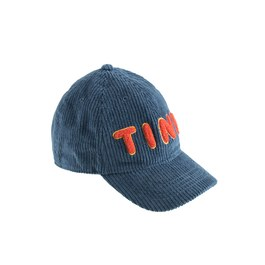 Tiny 燈芯絨棒球帽_藍