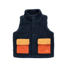 毛茸茸口袋背心夾克