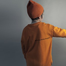 羅紋豆豆帽_橘