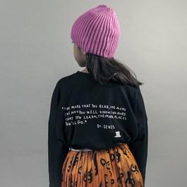 羅紋豆豆帽_粉