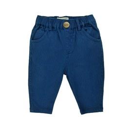Baby 藍色棉質鬆緊長褲