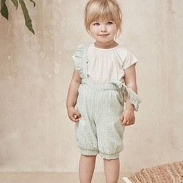 Baby 薄荷綠吊帶長褲(薄款)