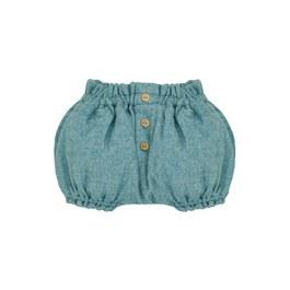 Baby 湖水綠混羊毛泡泡短褲