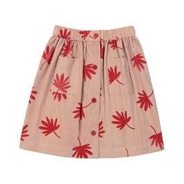 Charlotte 紅葉燈芯絨及膝裙