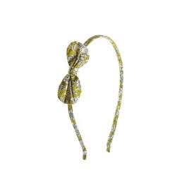 綠色碎花蝴蝶結髮箍