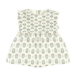 Baby 沙漠綠洲棉麻混洋裝