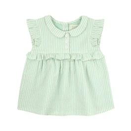 Baby 薄荷綠條紋洋裝