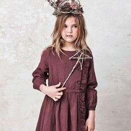 浪漫紫羅蘭薄棉洋裝