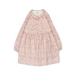 粉色花朵挺版洋裝