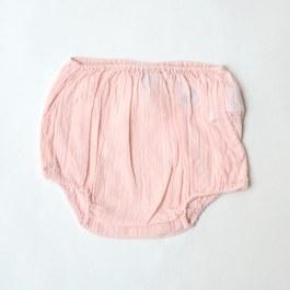 Baby 粉色皺棉小褲褲