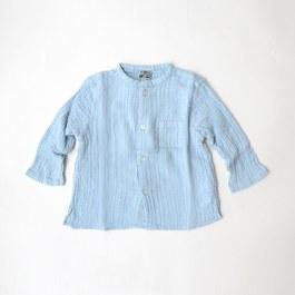 Baby 天空藍皺棉上衣
