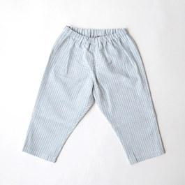 Baby 直條紋薄棉長褲