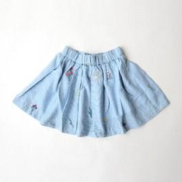 小花刺繡圓裙