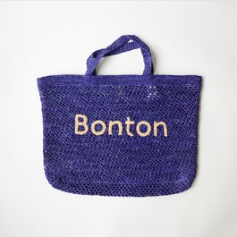 Bonton 拉菲草編織手提袋(L)