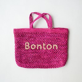 Bonton 拉菲草編織手提袋(S)