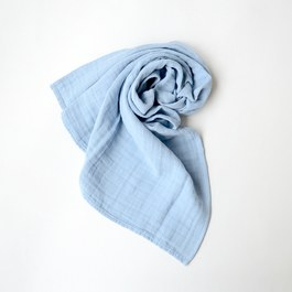Baby 方形紗布巾_天空藍