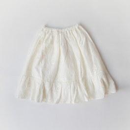 蕾絲鏤空中長裙