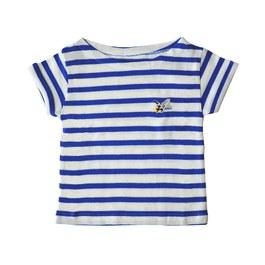 火箭刺繡條紋上衣