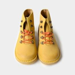芥末黃皮革登山靴