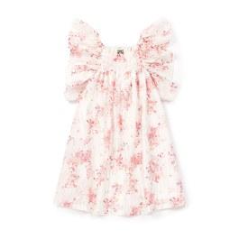 Reve法式花朵飛飛袖洋裝(版型偏大)