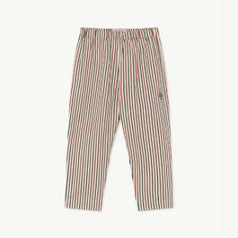 直條紋薄棉平織長褲