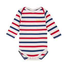 Baby Coucou 海軍條紋刺繡連身衣(合身版型)