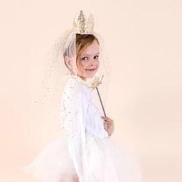 公主皇冠頭紗髮箍