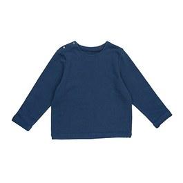 藍色極簡素面衛衣