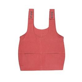 Ondine 桃粉帆布吊帶裙(寬鬆版型)