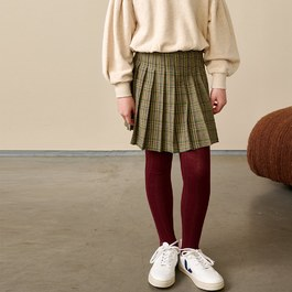 ASRA 百褶格紋短裙