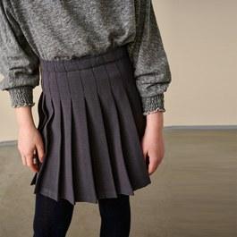 ASRA 灰色百褶短裙