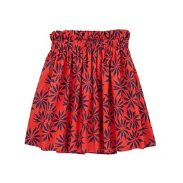 Eva 手染印花及膝裙