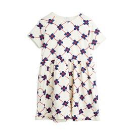 小花格紋有機棉洋裝