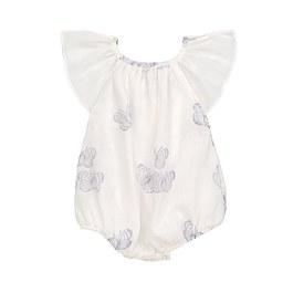 Baby 淡紫蝴蝶印花薄棉連身衣