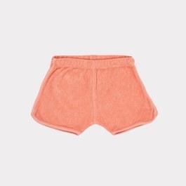 珊瑚粉毛巾料短褲