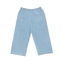 薄款刷白丹寧八分寬褲