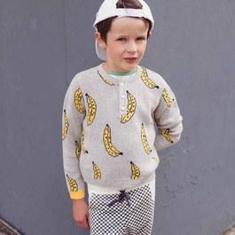 香蕉棉質針織套頭衫(版型偏小)