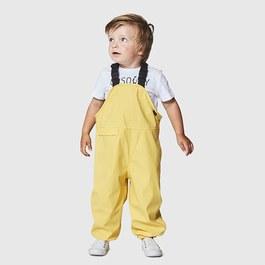 Baby黃色吊帶雨褲