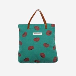 番茄刷色帆布托特包