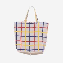 彩色格紋收納型購物袋