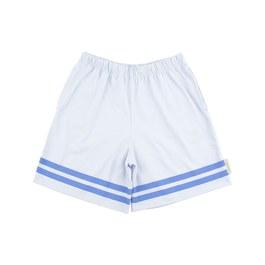 條紋藍色五分褲(版型偏大)
