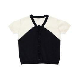 V領棉質針織上衣