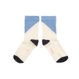 幾何撞色中筒襪