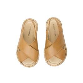 夏日交叉皮革涼鞋