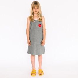 番茄針織細條紋肩帶洋裝