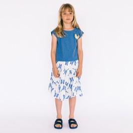 藍色小鳥中長裙
