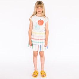 彩色條紋薄棉圓裙