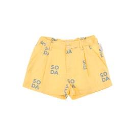 SODA 奶昔黃短褲(寬鬆版)